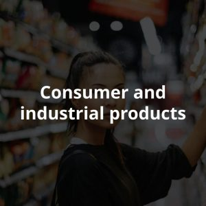 Consumer and industrial products